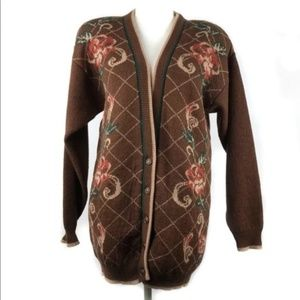 Vintage Pendleton Floral Cardigan Sweater Jacket